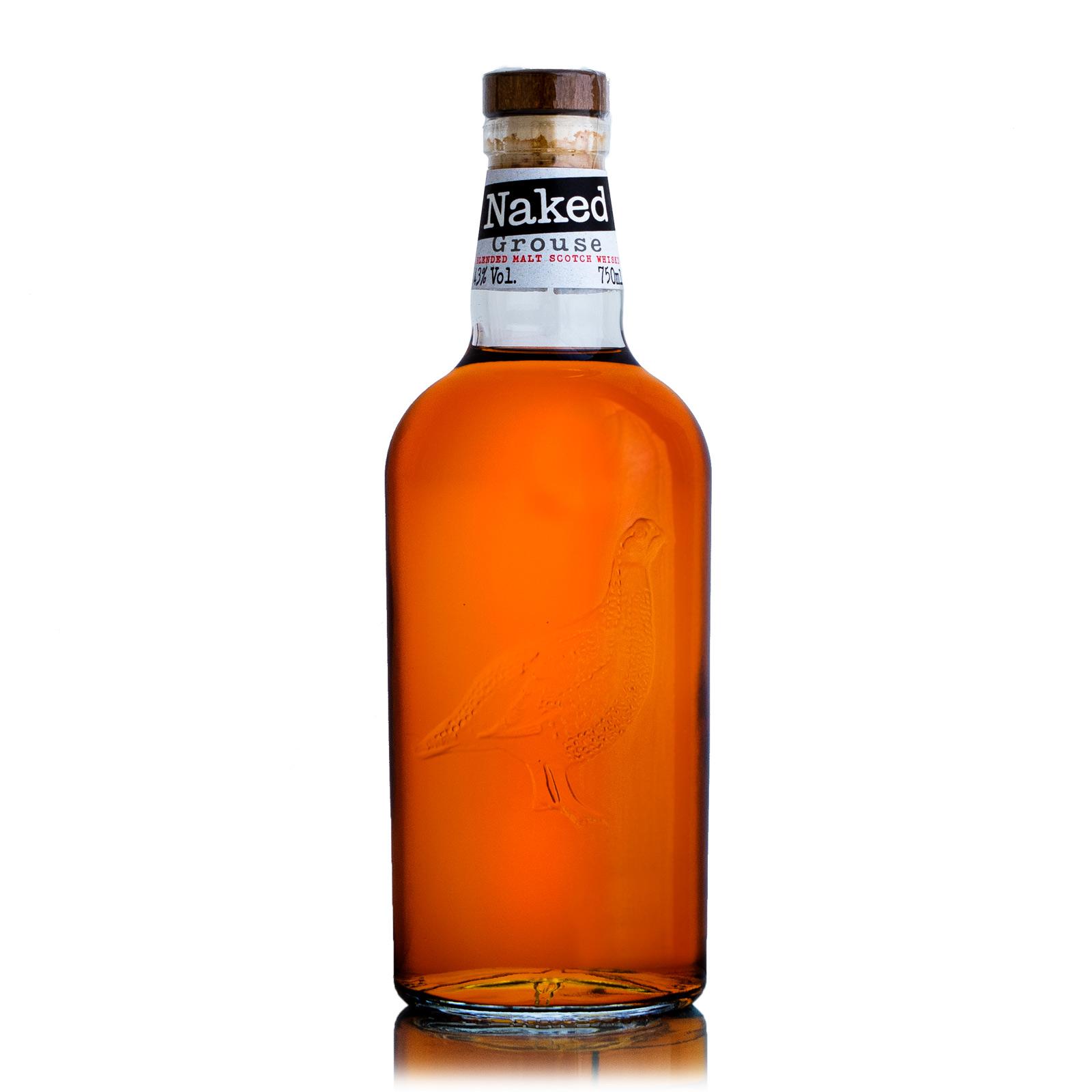 Naked Grouse Blended Malt Scotch Whisky Scotland Spirits